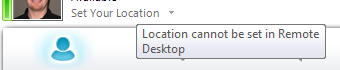 Lync - Location Disabled RDP